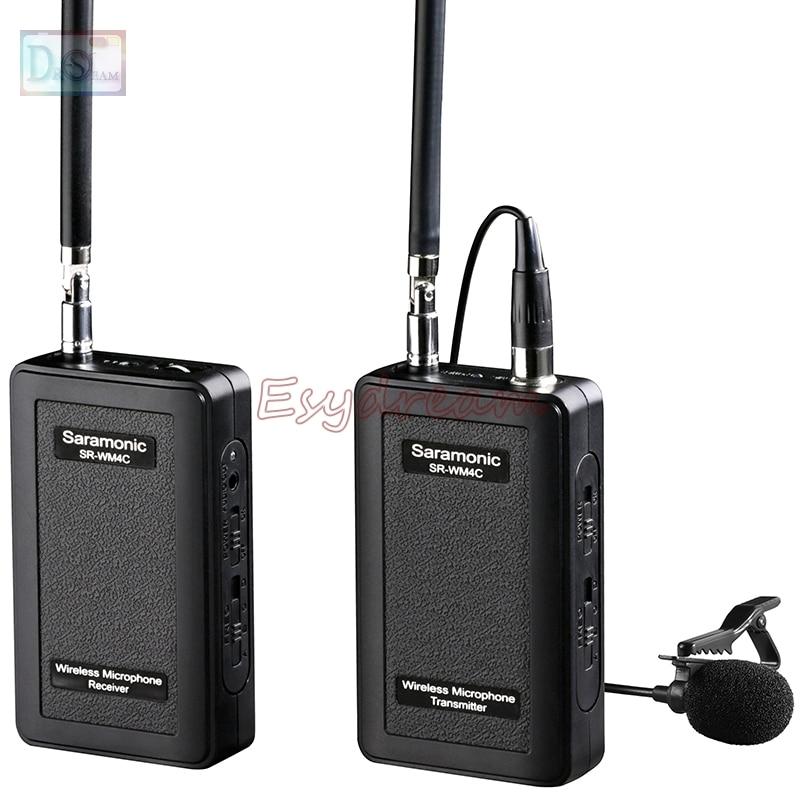 Saramonic SR-WM4C VHF Wireless Radio Lavalier Microphone System for Canon 6D 70D 5D Mark II III IV DV GoPro Hero 3 3+ 4 5 dv mark triple 6