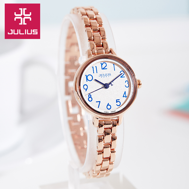 Top Julius Lady Women's Wrist Watch Fashion Hours Dress Arabic Numbers Bracelet Chain Business School Girl Birthday Gift 879 top julius lady women s wrist watch elegant shell retro fashion hours bracelet leather girl birthday gift