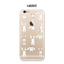 Applicable to iphone6 7 8 X XR XMAX mobile phone shell painted TPU transparent soft cartoon bunny drop