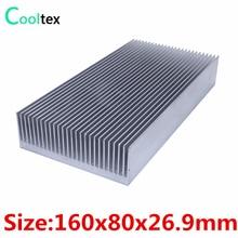 ハイパワー 160 × 80 × 26.9 ミリメートルラジエーターアルミヒートシンク押出ヒートシンク電子ledパワーアンプクーラー冷却