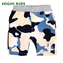 SOGNI KIDS Boys Children Camouflage Shorts Summer Cotton Casual Trousers Shorts For Girls Boys Brand Pants Sport Clothing