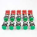 10x Chrome LED Light Illuminated Push Buttons With Micro Switch For Arcade Games Joystick Mame Jamma Green Pushbutton