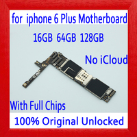 Factory unlocked for iphone 6 plus Motherboard without Touch ID,Original for iphone 6Plus Mainboard+Full Chips,16GB 64GB 128GB