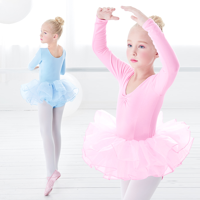 Girls Leotard Tutu Ballet Dress Costume Dress Skate Dance with 3 Layers of Tulle