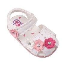 Scolour освещенные подошве сандалии принцесса цветы мягкой летние малышей девочек детская