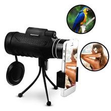 Cheap price Outdoor Travel 20X60 HD BAK4 Monocular Telescope Lens Clear Night Vision Optic Phone Camera Lens + Tripod Universal for Phones