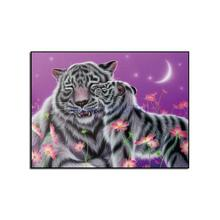 Free shipping diamond embroidery butterfly Tiger needlework cross stitch set full square flower diy painting
