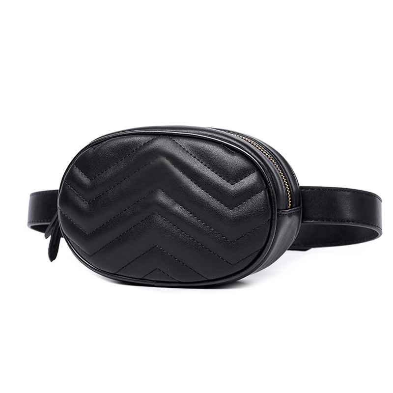 Fashion Fanny Pack Belt Bag Pu Leather Waist Bag Women Luxury Brand Leather 2019 Waist Pack Hight Quality Sac Main Drop Shipping