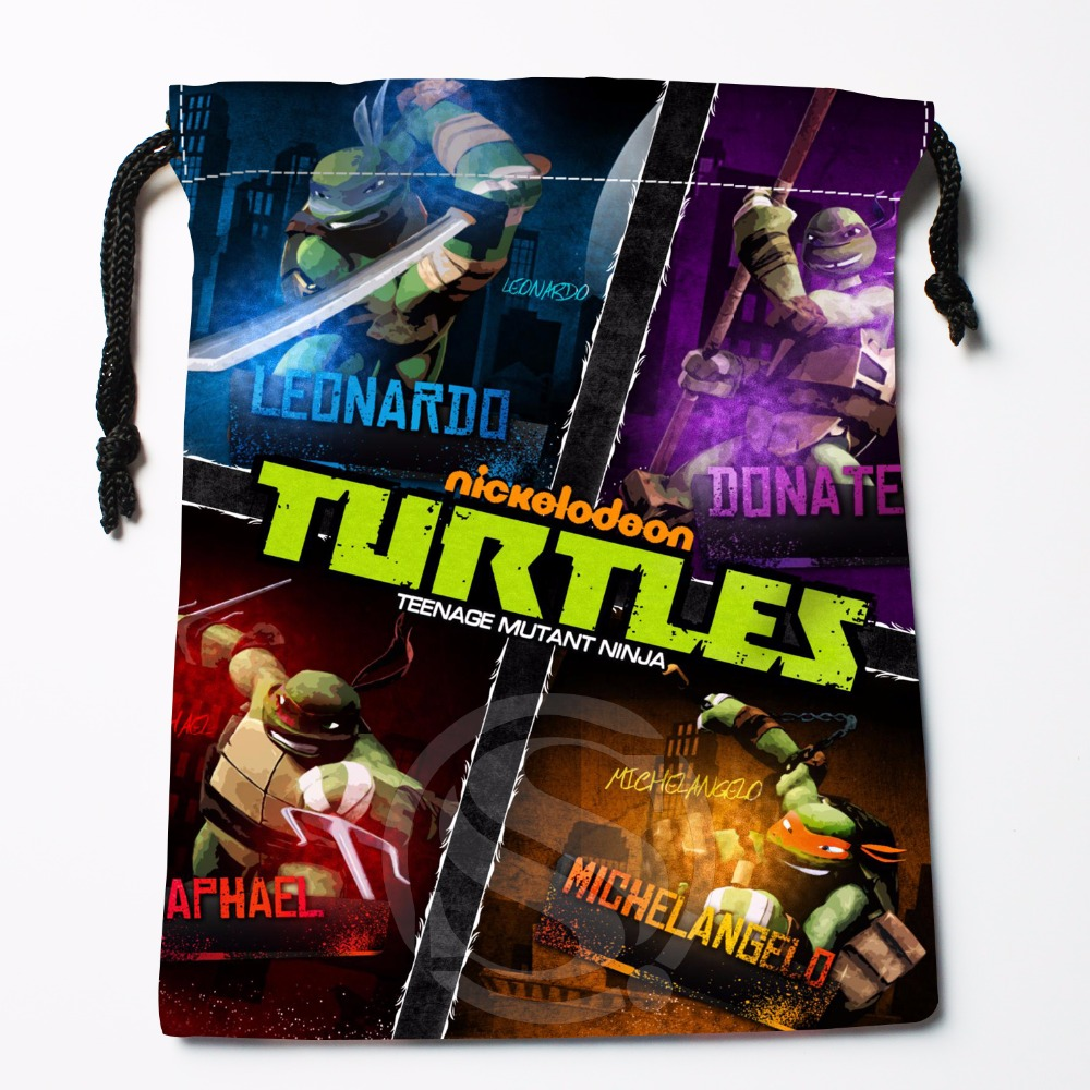 Fl-Q89 New Teenage Mutant Ninja Turtles Custom Printed  Receive Bag  Bag Compression Type Drawstring Bags Size 18X22cm 711-#F89