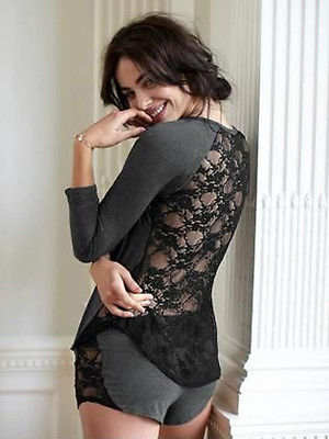 Fashion Women s Cotton Lace Sleepwear Nightwear Pajamas Set Homewear Pajama  Set Outfits Clothes 7992b9af7