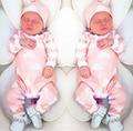 2017 nova moda bebê roupas de menina Dos Desenhos Animados rosa bonito da criança recém-nascidos macacão + Chapéu 2 pcs bebê menina vestuário infantil conjunto de roupas