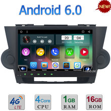 Quad-Core Android 6.0 10.1″ 3G 4G WIFI DAB RDS USB BT FM Car DVD Multimedia Player Radio For Toyota Highlander Kluger 2007-2013