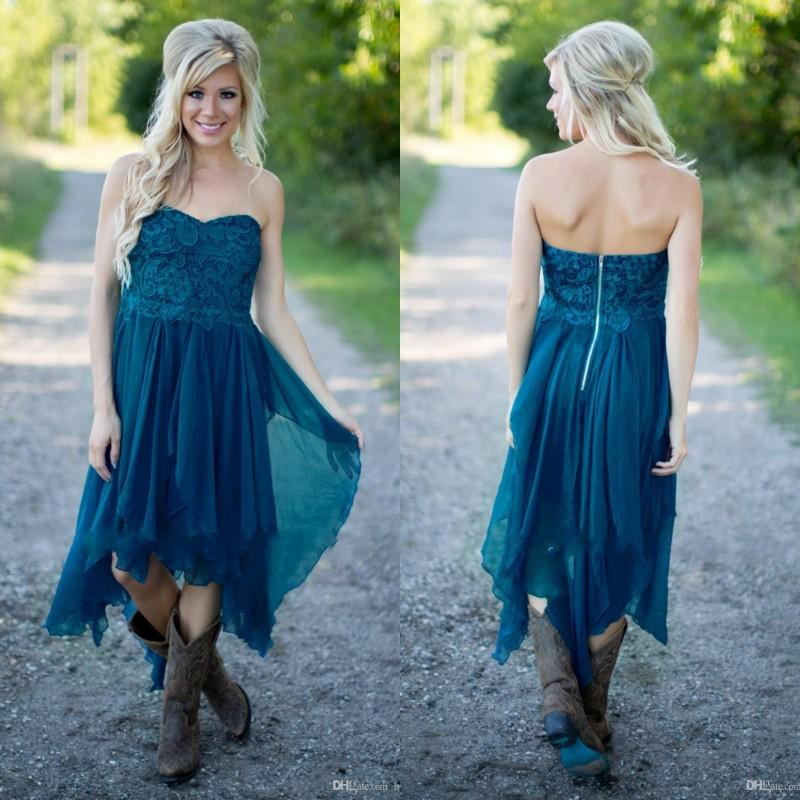 Story Beach Wedding Dress Ideas: Simple Country Bridesmaid Dresses 2017 Cheap Teal Chiffon