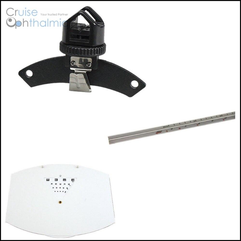 Optometria Foróptero AO Padrão de Teste de Visão de Perto Conjunto de Perto Rod & Cartão & Titular Dois Seção Post