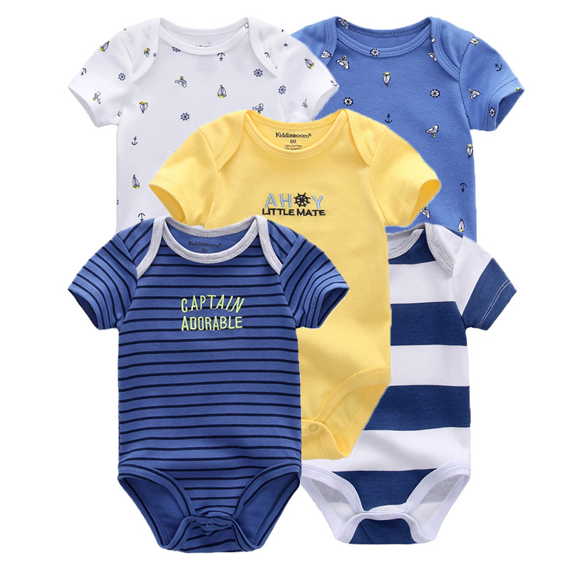 HTB1MfXgXv1H3KVjSZFHq6zKppXaf Clearance 5pcs Baby rompers 100% Cotton Infant Body Short Sleeve Clothing baby Jumpsuit Cartoon Printed Baby Boy Girl clothes