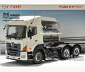 HINO 700 series 1:24 truck car model Heavy tractor origin alloy metal diecast Trailer white 6*4 kid toy SAIC Iveco Hongyan IVECO