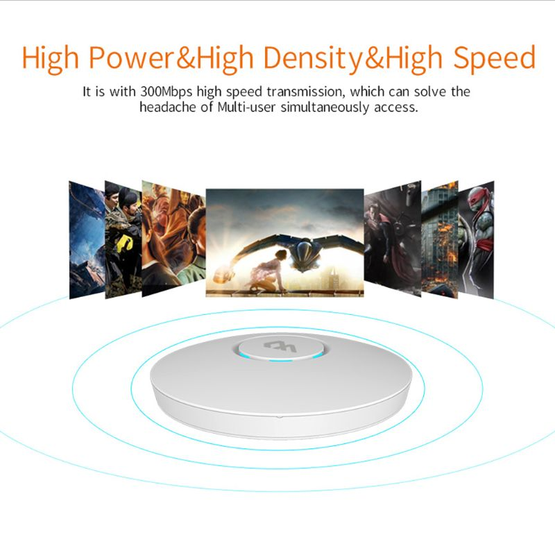 COMFAST CF-E320V2 300 M routeur sans fil WiFi plafond AP 802.11b/g/n QCA9531 entreprise Wifi système AP 48 V POE