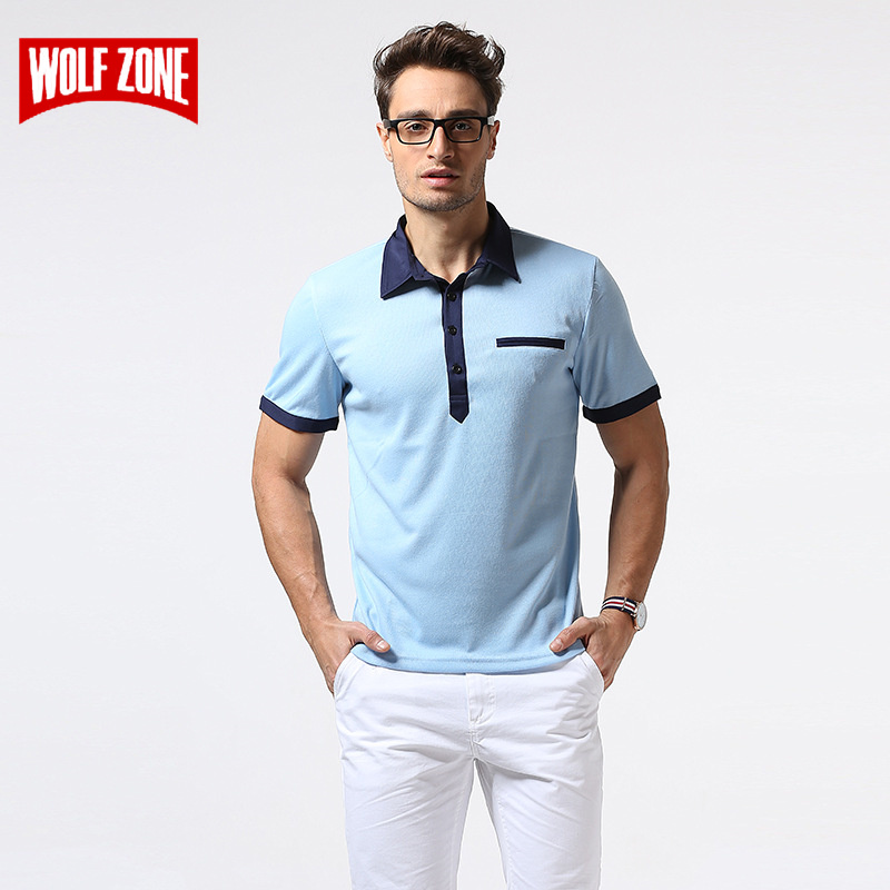 New 2018 Brand   POLO   Shirt Men Cotton Fashion Skull Dots Print Camisa Summer Breathable Short-sleeve Business Casual   Polo   Shirts