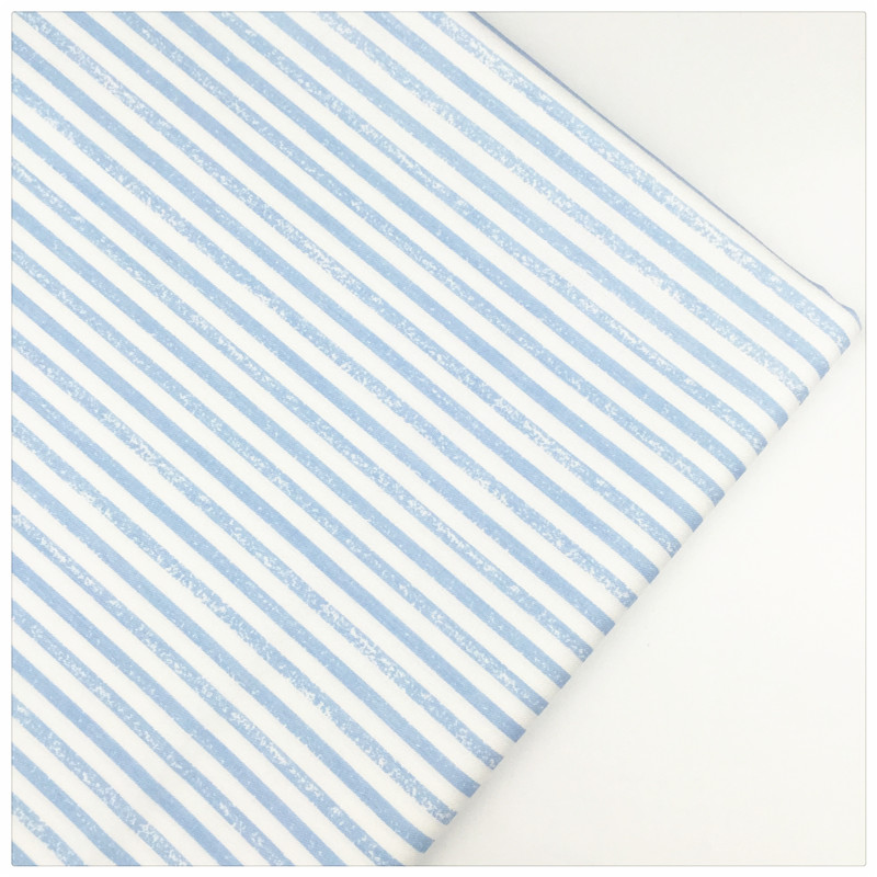 Cotton fabric diy sewing craft stripe print needlwork for Cloth material for sewing