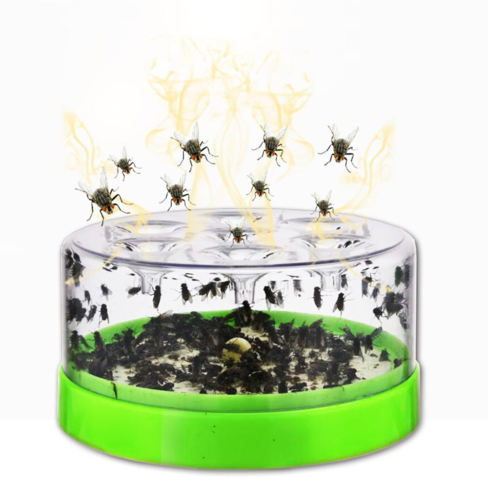 Reusable Clear Green Fly Catcher Flies Killer Attractants Included Bait Fly Trap
