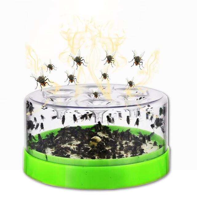 Reusable Clear Green Killing Fruit Fly Catcher Flies Killer Flying Attractants Included Powder Bait Trap Destroyer Table