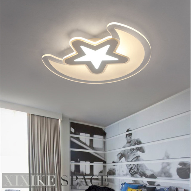 Ultradünne Moderne Minimalistische Led Sterne Mond Schlafzimmer  Deckenleuchte Kreative Jungen Mädchen Baby Kinderzimmer Deckenleuchten 110 V