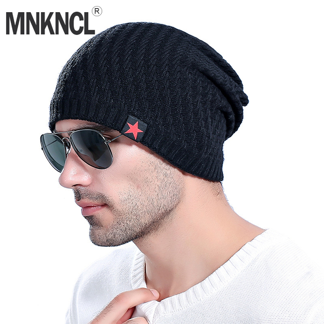 MNKNCL High Quality Beanie Winter Hats Cap Men Women Stocking Hat Beanies  Knitted Hat Male Female 5e70310b0ef