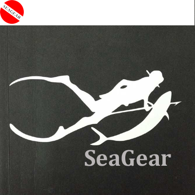 22cm length shinne sticker white black red colors 3M sticker diving spearfishing sticker