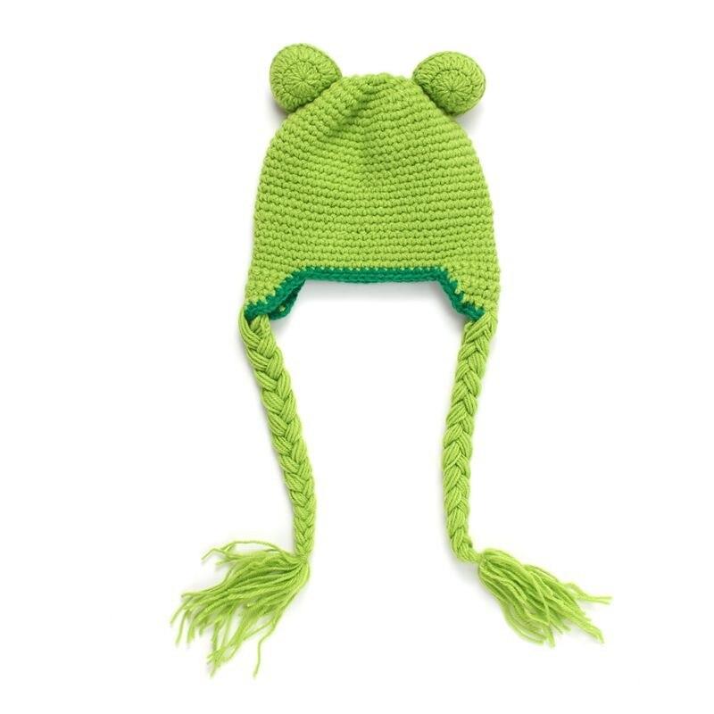 Handgemachte Gestrickte Baby Hut Frosch Stil kinder Winter Warme ...