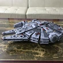 Building bricks 05007 Star Plan Wars Millennium Falcon Model 1381pcs Building Blocks Toys with Character Figures