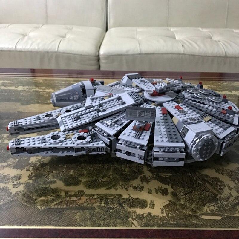 Building bricks  Star Plan Wars Millennium Falcon Model 1381pcs Building Blocks Toys with Character Figures