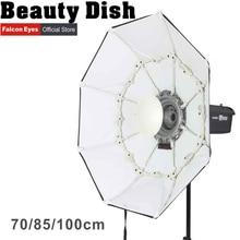 Olhos de falcão dobráveis prato de beleza softbox 70cm 85cm 100cm radar com montagem bowens para estúdio strobe flash light