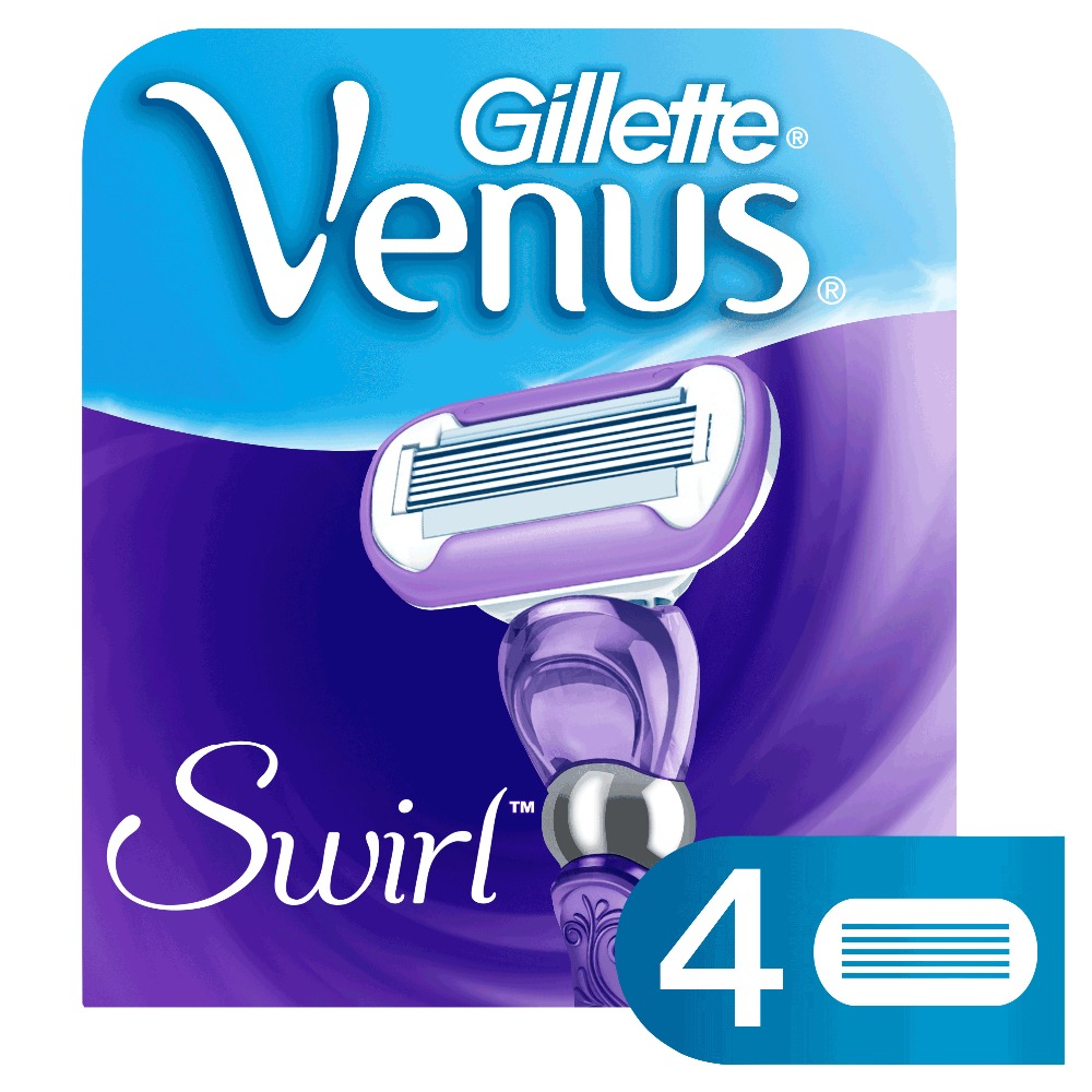 Replaceable Razor Blades for Women Gillette Venus Swirl 4 pcs Cassettes Shaving Venus shaving cartridge gillette shaving razor blades for men 6 count