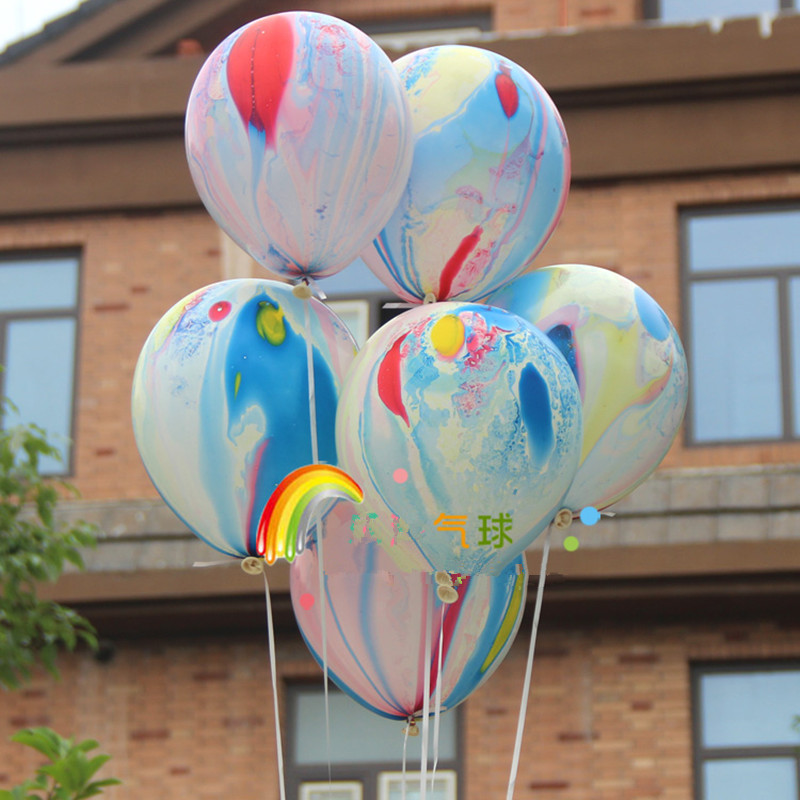 20pcs 12inch uniquer printed clouds balloon helium for Helium balloon decoration