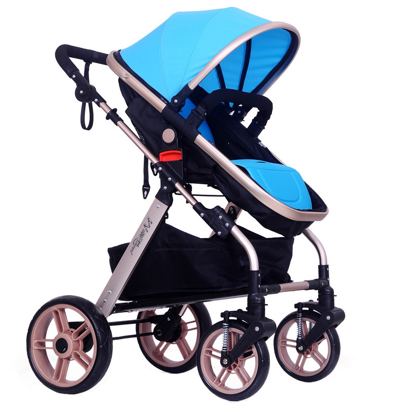 New Design Portable Baby Stroller Infant Pushchair Four Wheel Baby Carriage Pram Buggy Outdoor Travel Stroller