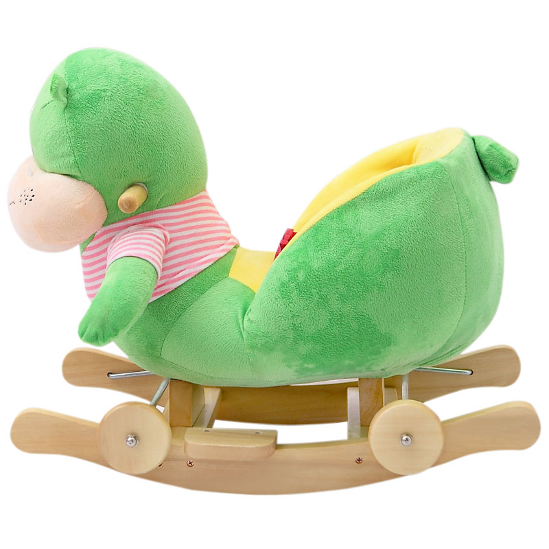 Kingtoy Plush Baby Rocking Chair Children Wood Swing Seat Kids Outdoor Ride  On Rocking Stroller Toy In Ride On Animal Toys From Toys U0026 Hobbies On ...