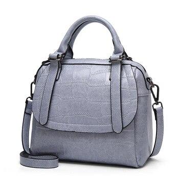 940811f73 Bolso de cuero de cocodrilo patrón de las mujeres de moda de mujer Top  mango bolso de bandolera de cuero bolsas monederos y bolsos de mano
