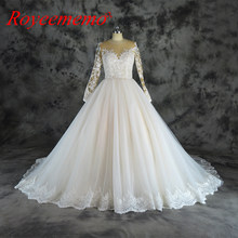 db254298fe31 Vestido de Noiva new lace design wedding dress champagne and ivory wedding  gown factory custom made wholesale price bridal dress