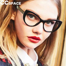 e5616a40f603 Cat Eye Thick Glasses Frames Women Sexy Retro Styles CCSPACE Brand Designer  Optical Fashion Computer Glasses