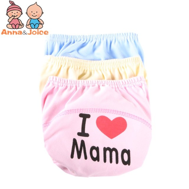 10pcs/lot Pa&maLearning Pants Baby Diaper Cloth Diapers Washable Diapers  Cover Disposable Suit 9-14kg 1