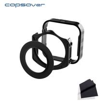 Capsaver Multifuncional Titular Filtro + Capa de Lente + 49/52/55/58/62/67/72/77/82mm Anel Adaptador para Cokin P com Lente de Microfibra