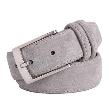 New Fashion Genuine Leather Suede Men's Belts Cowhide Belt Luxury Brand Brushed Metal Pin Buckle Ceinture Homme Luxe Marque - DISCOUNT ITEM  29% OFF All Category