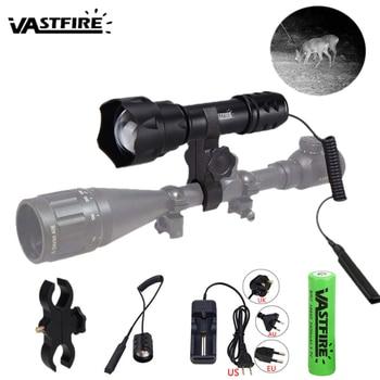 VASTFIRE 7 Watt 850 nm LED Infrared Radiation IR Lamp 400 yards Zoomable Focus Night Vision Flashlight Torch linterna