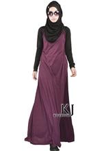 Fashion Muslim Dress Abaya in Dubai Islamic Clothing For Women Jilbab Djellaba Robe Musulmane Turkish Women Clothing Side Pocket
