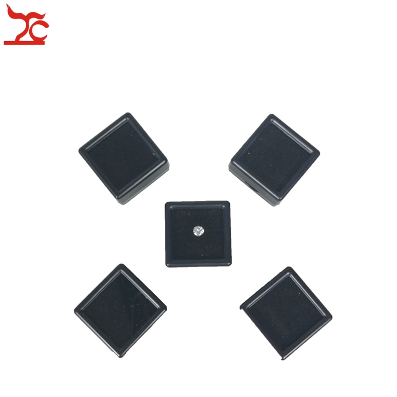 5Pcs Plastic Loose Diamond Display Package Box Square Gem Stone Case Foam Pad Diamond Storage Box 3*3*2cm