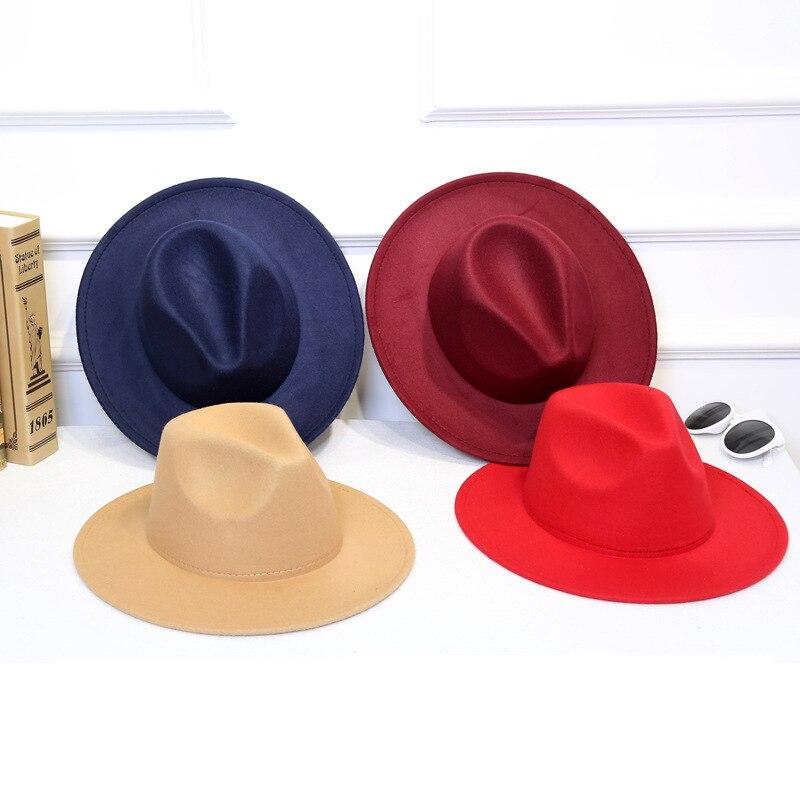 LUCKYLIANJI 100% lana sentía Womem hombres vaquero occidental del sombrero  de ala ancha correa de b056b7a2e4a
