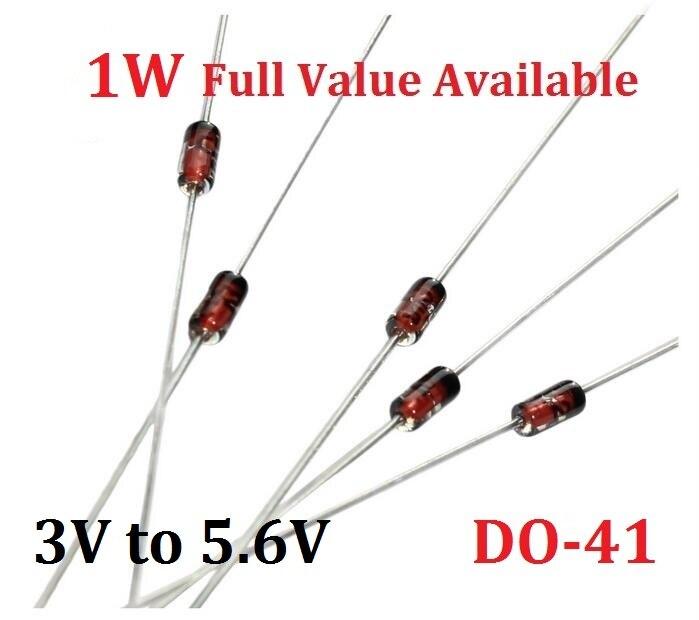 50PCS 1W Zener diode 1N4727A 3V 1N4728A 3. 3V 1N4729A3. 6V 1N4730A3. 9V 1N4731A4. 3V 1N4732A4. 7V 1N4733A5. 1V 1N4734A5. 6V