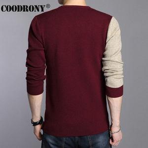 Image 4 - COODRONY 2020 冬新着厚く暖かいセーター O ネックウールセーター男性ブランド服ニットカシミヤプルオーバー男性 66203