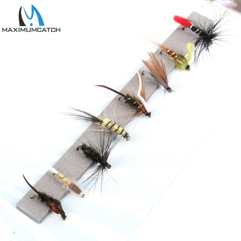Maximumcatch Nymph And Wet Fly Flies 12# Hook Assortment For Fly Fishing 8 Patterns Deluxe Kit redfish seatrout fly assortment collection of 6 holly flies