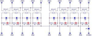 Image 4 - Slim מסילת DIN הר DC12V כיור/NPN 8 SPST NO 5A כוח ממסר מודול, PA1a 12V